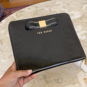 Ted Baker Cicon Black Patent Bow iPad Padded Case